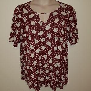 Modcloth plus size Halloween blouse, size 2x 18/20